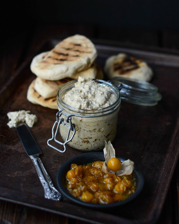 Bokkom pâté with Cape gooseberry chutney and roosterkoek. Visit houseandleisure.co.za for more