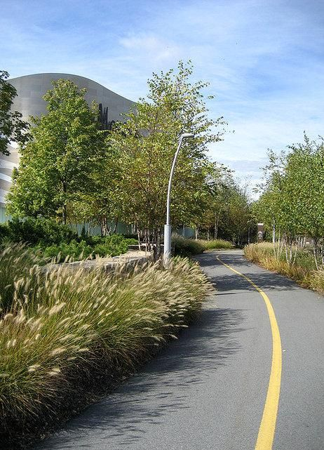 Bike path alongside a shopping mall in Natick, MA. Photo: lauranosp (via Flickr). Click image for link to more photos and visit the slowottaw.ca boards >>
