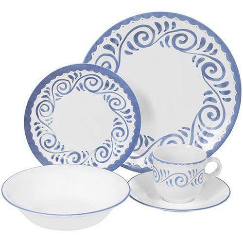 corelle+dinnerware+sets | Corelle 20-pc. Livingware Mediterraneo Dinnerware Set, Blue