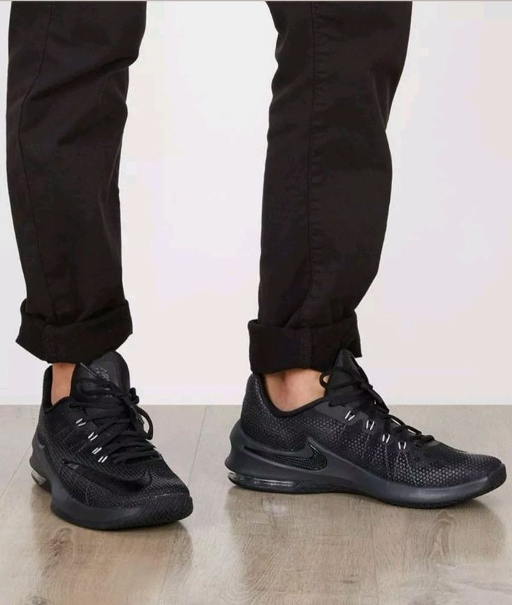 Nike Men's Air Max Infuriate Low Athletic Snickers Shoes Black Size 11 ; EUR 45 #Nike #AthleticSneakers