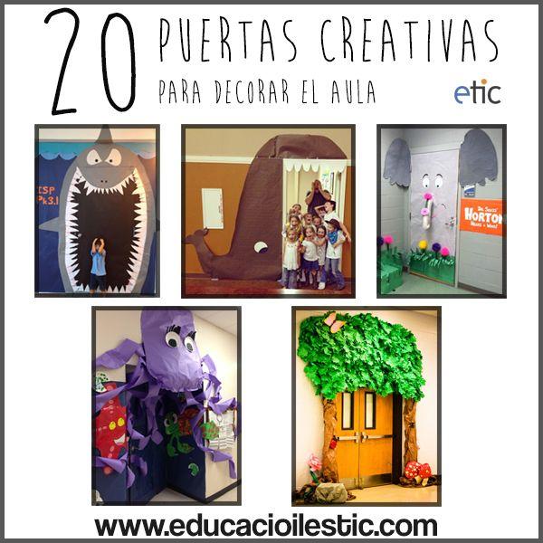 20 puertas creativas para decorar el aula decorant i for Ideas para decorar puertas