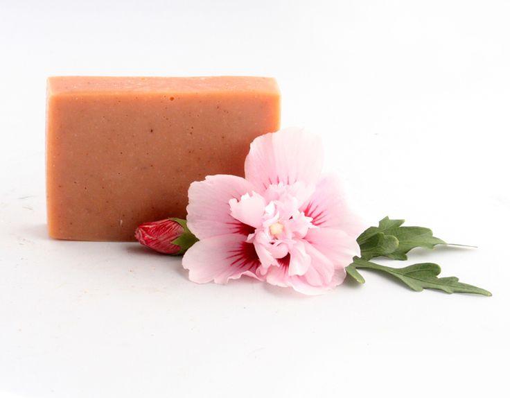 Rószaszínagyagos szappan