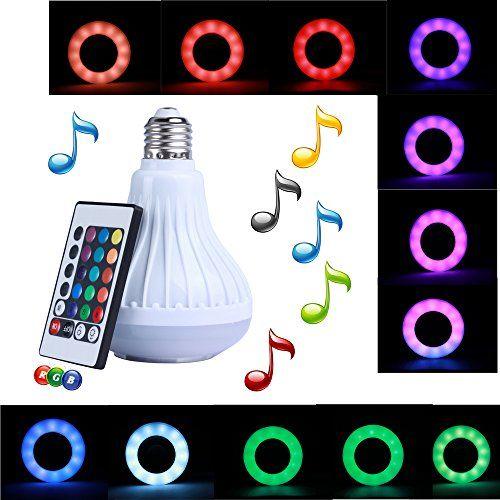 LED-Birne für Lampenfassungen mit integrierten Bluetooth-Lautsprecher
