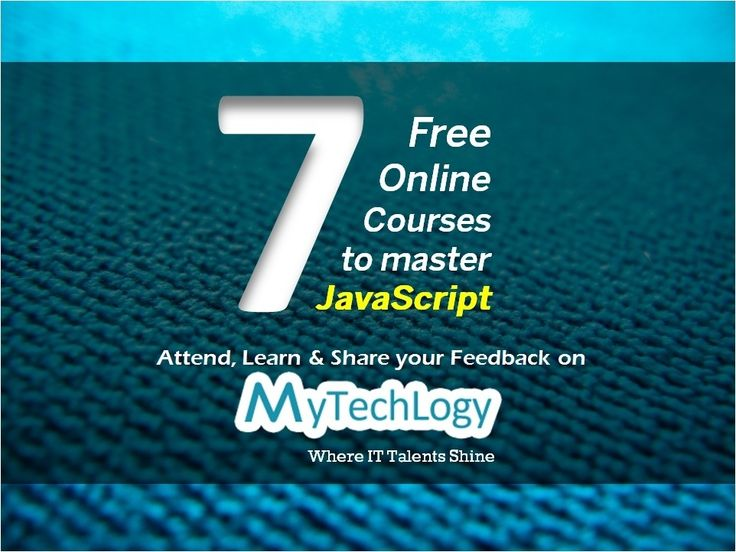 7 Free online courses to master #JavaScript. Attend, learn & Share your feedback. Visit: http://www.mytechlogy.com/Online-IT-courses-reviews/courses-search/?q=javascript&type=Free