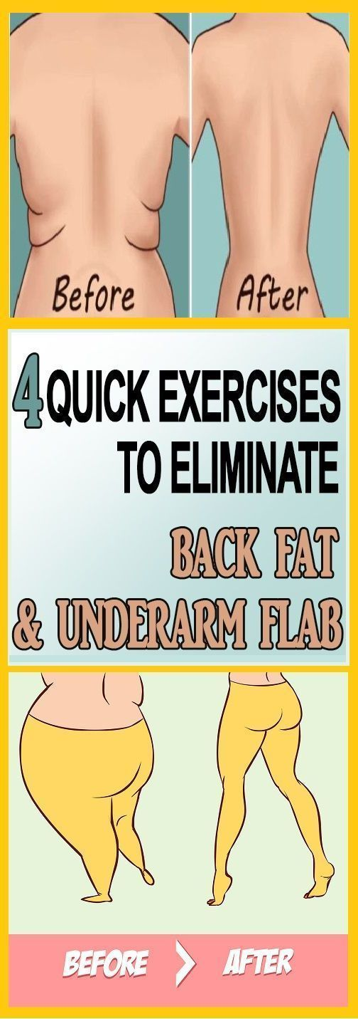 •	4 QUICK EXERCISES TO ELIMINATE BACK FAT AND UNDERARM FLAB !! !
