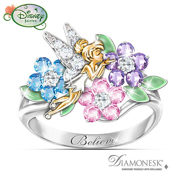 Disney Tinker Bell Quot Garden Of Magic Quot Diamonesk Ring
