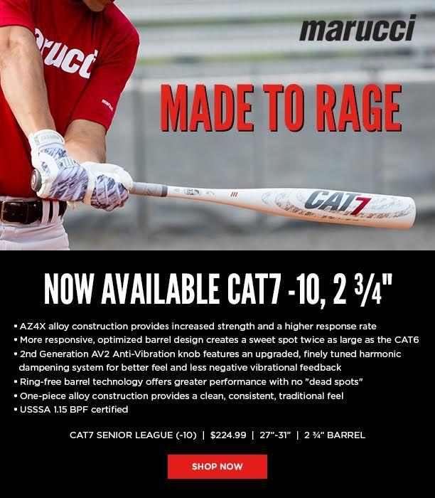 Marucci Cat 7 10 Senior League Baseball Bat Msbc7x10 Justbats Com Batting Average Big Barrel Baseball
