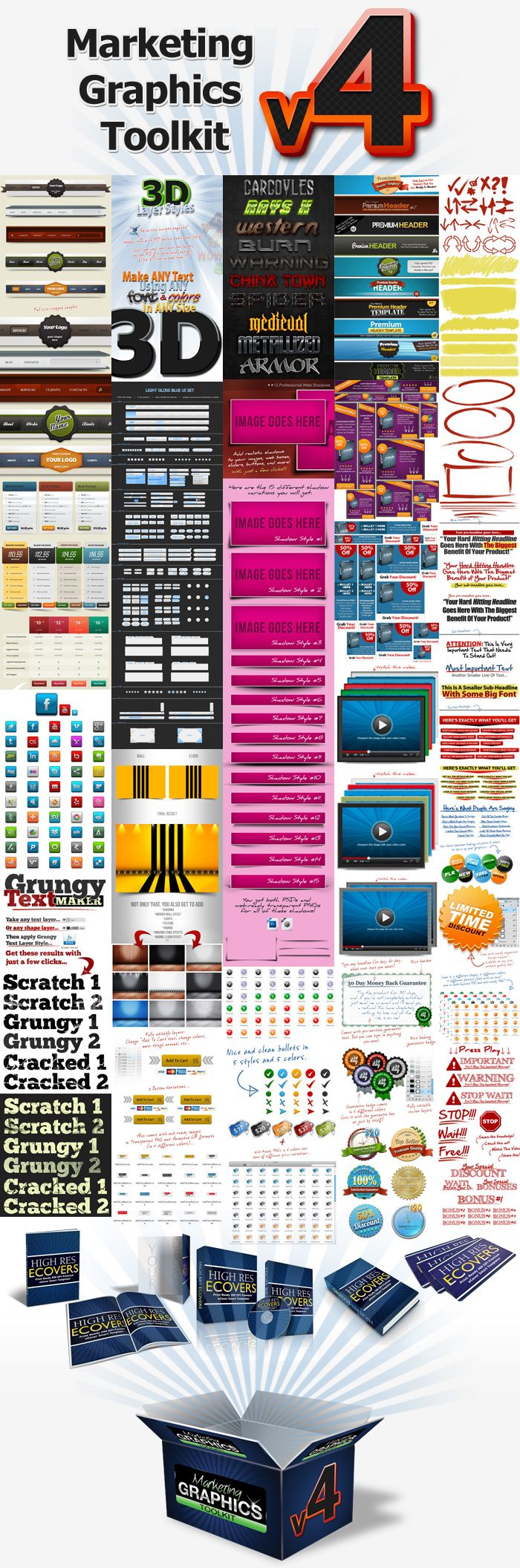 The Marketing Graphics Toolkit v4 Pro is a steal at a little over 13 bucks.