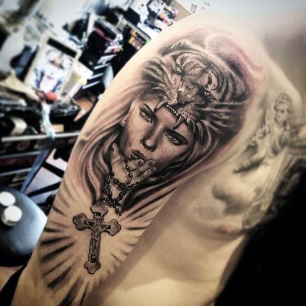100 Rosenkranz Tatowierungen Fur Manner Heiliges Gebet Tinte Designs Tatowierung Fur Manner Rosenkranz Tattoos Rosenkranz