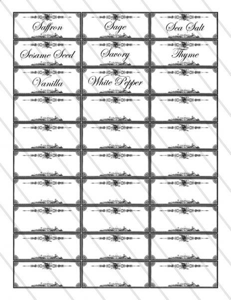 Free Printable Spice Jar Labels | Spice Labels Printable Images Digital  Collage By VectoriaDesigns