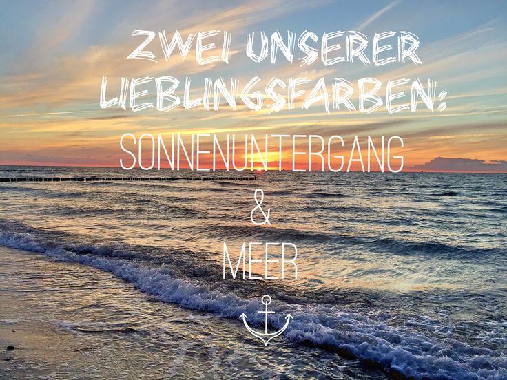 "Lieblingsfarben ""Sonnenuntergang"" und ""Meer"""