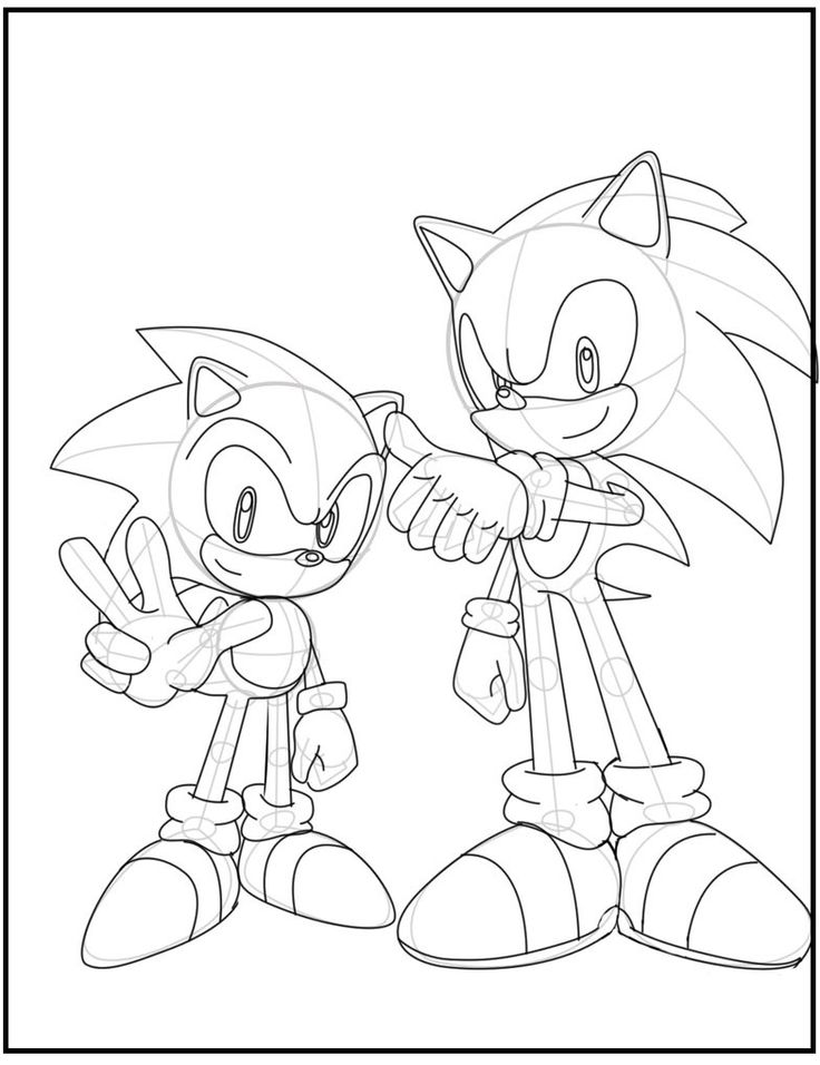 44 best Sonic The Hedgehog Coloring Pages images on ...
