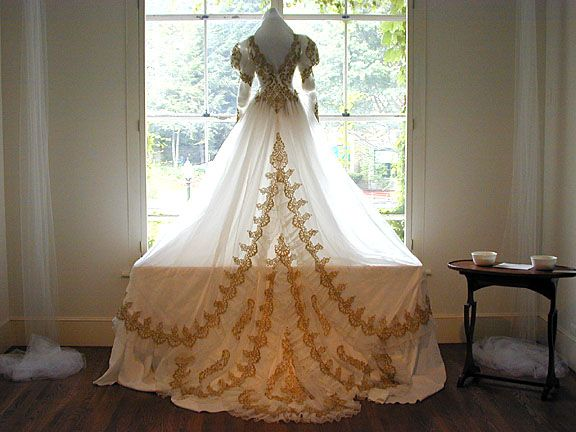 Antique Gold Wedding Gown