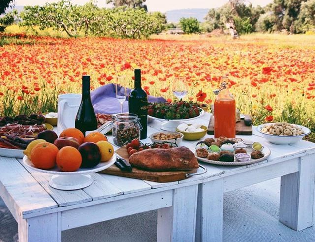 We take picnics rather seriously and believe that nature is the best companion also for a glass of red Primitivo.  #southernvisions #traveldesign #experience #design #poppies #nature #colors #picnic #picoftheday #magical #authentic #wine #foodphotography #instadaily #instagram #instamood #instalike #weareinpuglia #elegance #friends #mylife #italy #italian #follow #followme #igers
