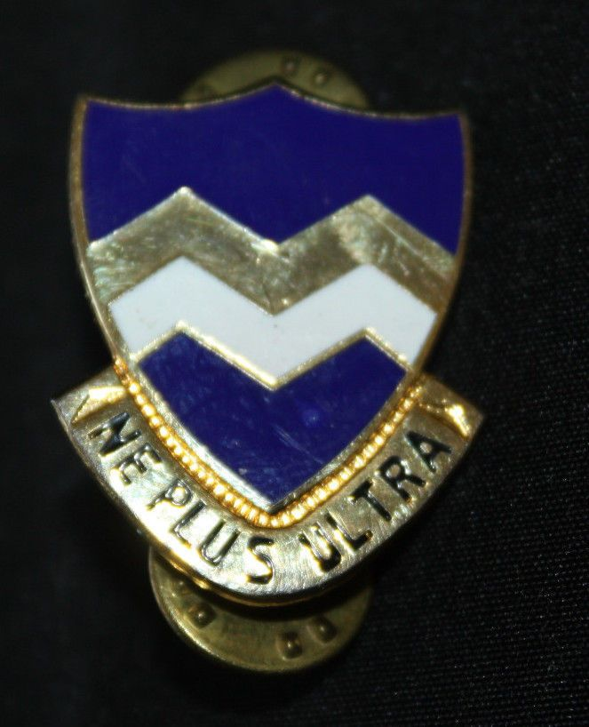 Vtg WWII US Army 416th Infantry Regiment Pin NE PLUS ULTRA  Insignia Clutchback http://stores.ebay.com/The-Spicy-Senior?_rdc=1