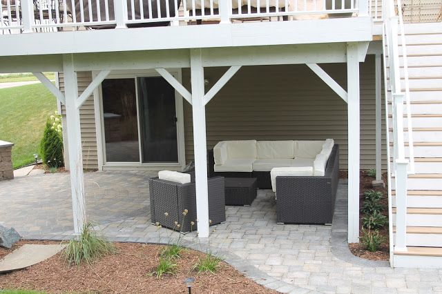 Walk out basement patio idea our styled suburban life for Walkout basement patio ideas