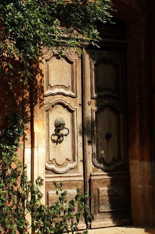 Roussillon, Provence   LOVELY  PORTE  DE  MENUISERIE  FRANÇAISE  **+