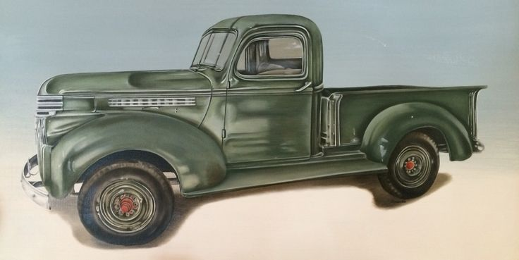 Vintage Chevy Pickup 1946 Oil on canvas