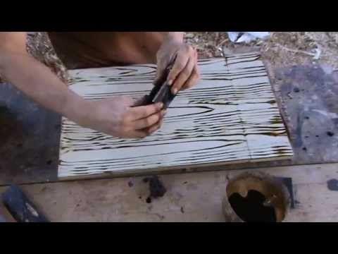 Como Pintar Una Imitacion De Vetas De Madera. Tipos De Veteado - YouTube