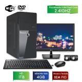 Computador 3green fast monitor 19.5 lg intel dual core 2.41 4gb 1tb dvd wifi mouse teclado sem fio - 3green technology
