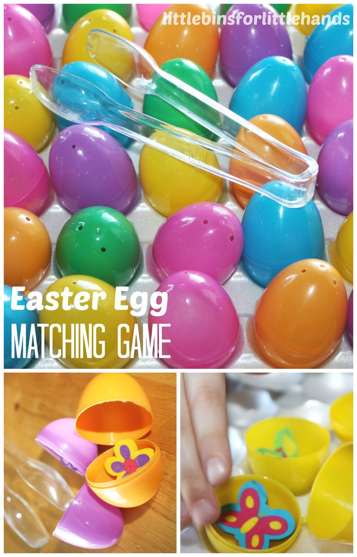 Easter Egg Games for Math Matching Memory Games