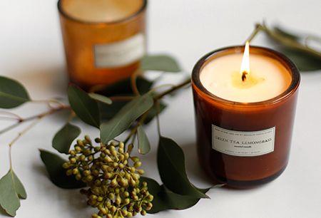 Fern + Moss Amber Glass Candle – Brooklyn Candle Studio