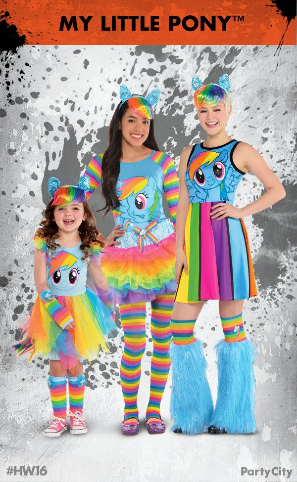 rule halloween and dress to thrill with my little pony costumes from party city - All Halloween Costumes Party City
