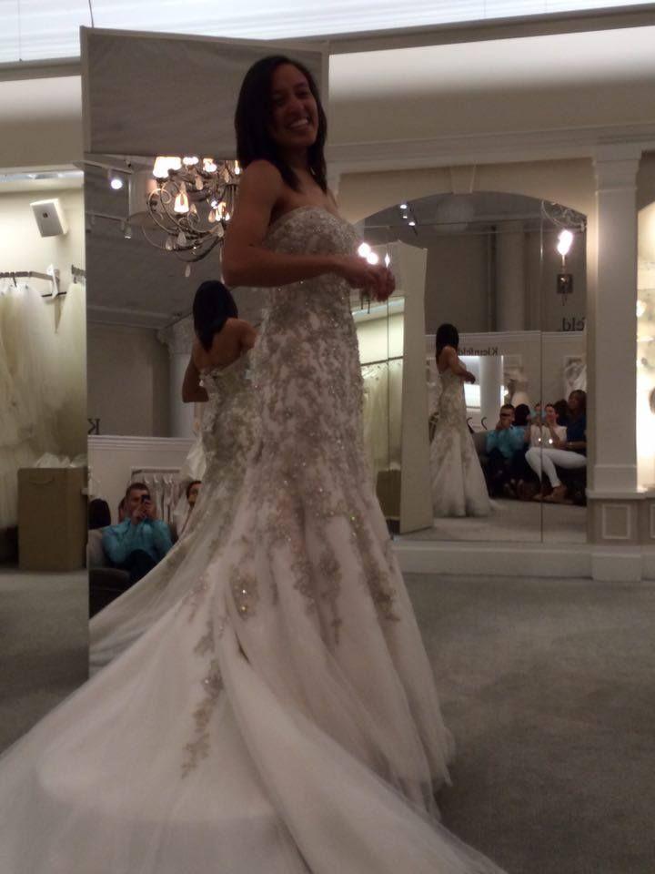 5b694d79f8b Danielle Caprese  Fit To Flare  size 6 new wedding dress - Nearly Newlywed