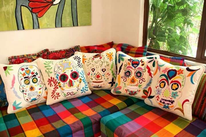 From Folt Bolt. Casa Otomi. Heirloom hand-embroidered patterns