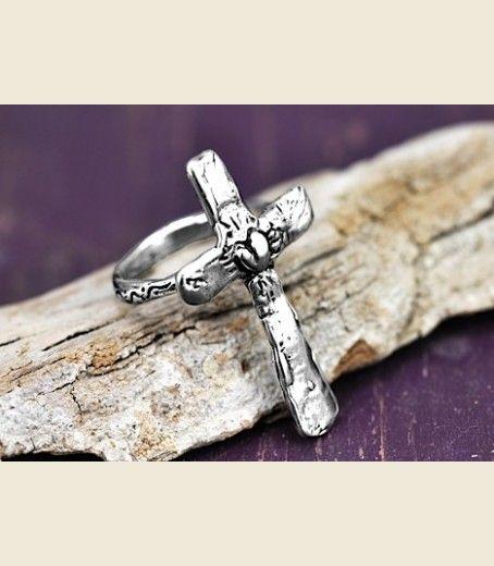 Big Faith Cross Ring