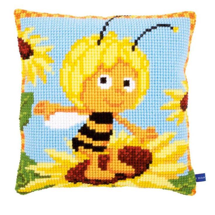 Coussin Vervaco Maya © l'abeille sur un tournesol PN-0154467 chez Univers Broderie