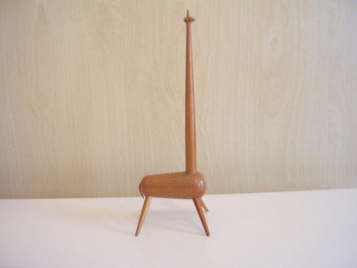 Vintage Giraffe,Ringhalter,Holz,Denmark,50er,60er von Retromania auf DaWanda.com