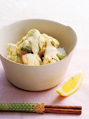 【ELLE gourmet】そら豆とアボカドのかき揚げ丼レシピ|エル・オンライン