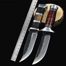 High Quality Tactical Fixed Blade 440 Stainless Steel Color Wood Handle Outdoor Hunting Knives Tool(China (Mainland))
