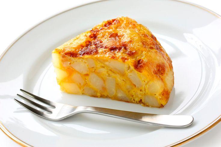 Tortilla de patata sin huevo