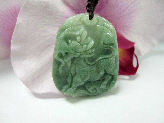 Jade Chinese Unicorn Qilin/Kirin 麒麟 Good Luck by the68artshop