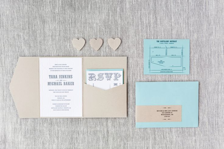 Tara & Michael - Paper & Poste Custom Invitation