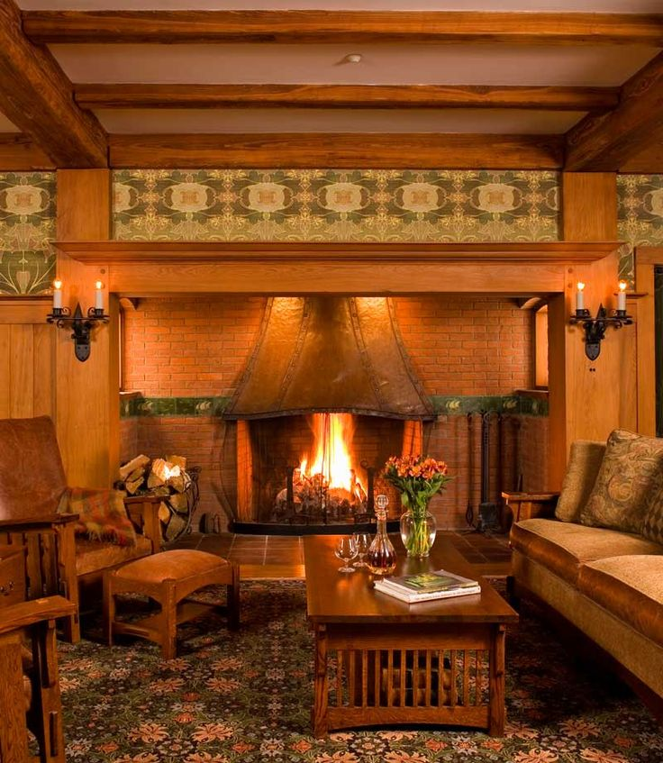 220 best images about craftsman interiors on pinterest for Craftsman fireplace pictures