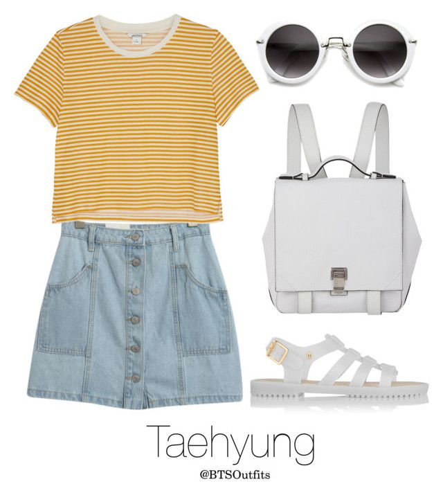 """Zoo with Taehyung"" by btsoutfits ❤ liked on Polyvore featuring Chicnova Fashion, Monki, Melissa and Proenza Schouler"