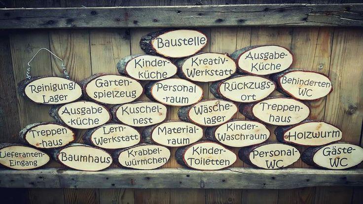 Türschilder für Kindergarten Baumscheiben bedruckt