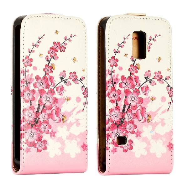 Roze bloesem flipcase hoes voor Samsung Galaxy S5 mini