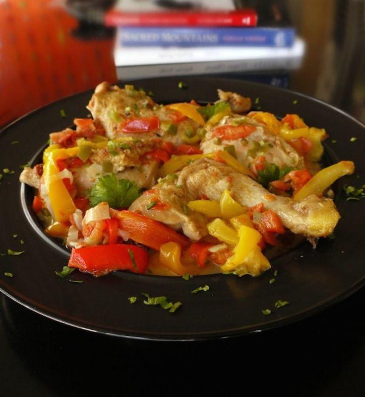 κοτόπουλο με πιπεριες
