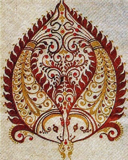 Alpona: designs drawn on floor and walls of Bengal