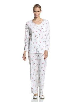 21% OFF Carole Hochman Women's Jersey Pajama Set (Wistful Rosebuds)