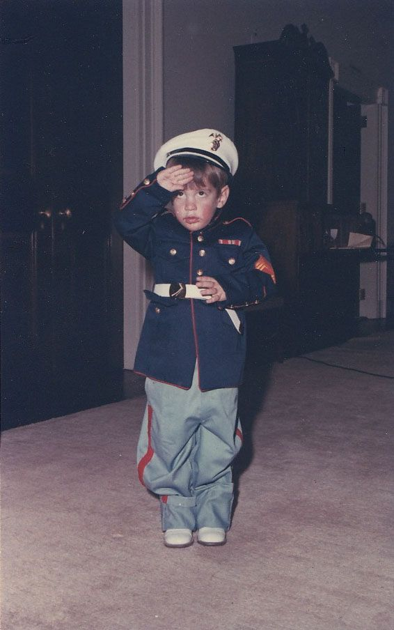 john f kennedy jr. In a Marine dress blues. Not sure of age, maybe 3.  - Yahoo Search Results