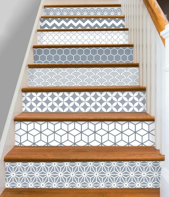 best 25 stair risers ideas on pinterest painted stair. Black Bedroom Furniture Sets. Home Design Ideas