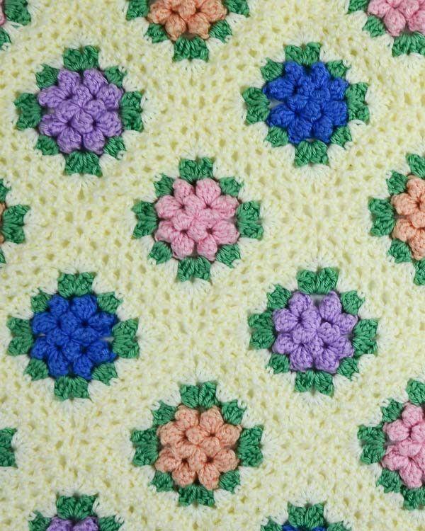 Vintage Granny Popcorn Afghan Crochet Pattern