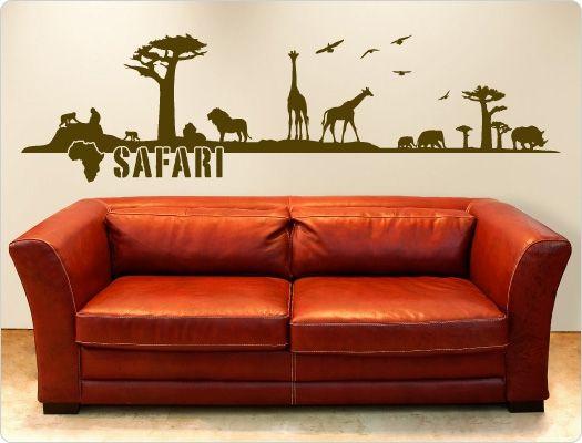 Afrika Wandtattoo Safari