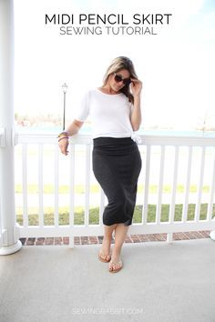 How to sew a midi pencil skirt    Midi Pencil Skirt DIY Casual cool DIY chic this Summer