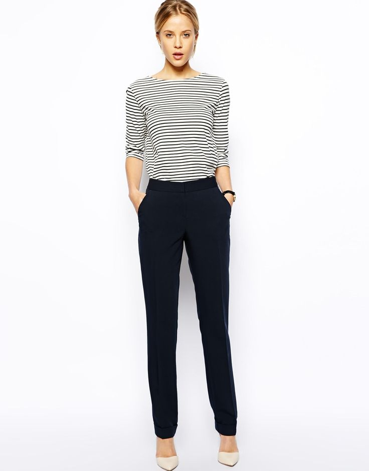ASOS | ASOS Trousers In Straight Leg With Jet Pocket at ASOS